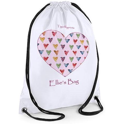 Personalised Swim Bag,Gym Bag,Sports Bag,sugar hearts by Tigerlilyprints