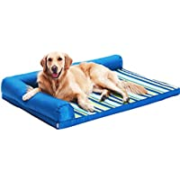 Cama perro Cama Impermeable para Perros Oxford Cloth - Sofá ortopédico Azul Indestructible para Mascotas,