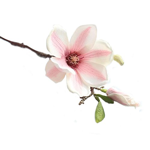 Schön Unechte Blumen, Sonnena Einzelne Magnolienblume Gefälschte Blumen Kunstblume Bridal Bouquet Hochzeit Blumenstrauß Party Garten Blumen-Bouquet Hortensie Dekoration ()