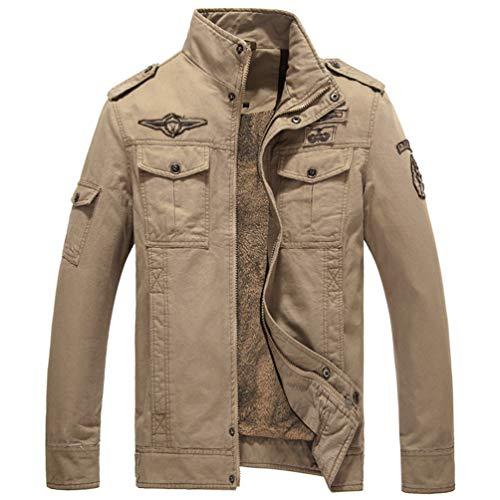 SODSIM Militär Jacke Herren Winter Herbst Übergangsjacke Vintage Feldjacke Outdoor Pilotenjacke Parka Baumwolle