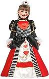Costume di Carnevale da Regina di Cuori Baby Vestito per Bambina Ragazza 1-6 Anni Travestimento Veneziano Halloween Cosplay Festa Party 53155 Taglia 3