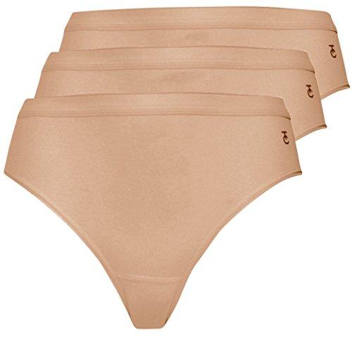 Ten Cate Damen Rio-Slip 3-PACK BASIC COTTON (3373) Hautfarben