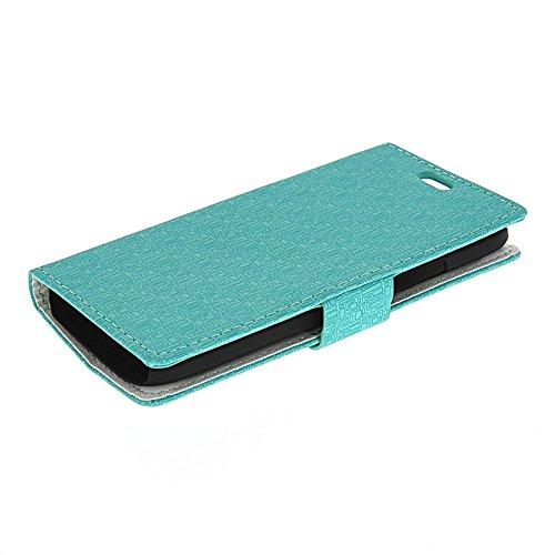 MOONCASE Coque en Cuir Portefeuille Housse de Protection Étui à rabat Case pour Apple iPhone 6 Plus Rose Azur 01