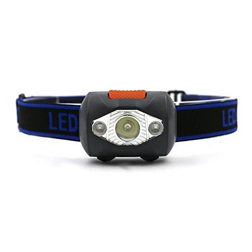 Led-diamond-objektiv (seitor Mini LED Scheinwerfer Super helle Taschenlampe, 4Helligkeit Modi Batterie betrieben Kopf Taschenlampe leicht und komfortabel perfekt für Laufen, Walking, Camping)