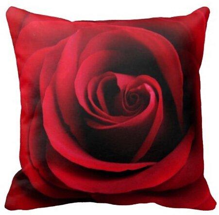 Alexander personalzied moderno red rose amazing piazza copertura del cuscino con cerniera cuscini federa doppia lati uguali stampa, 45 x 45 cm