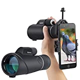 Kalawen High Power 10-20x50mm Zoom Monocular Telescope for Adults, Bak4 Prism Waterproof Monocular
