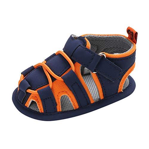 Lauflernschuhe Fliegendes Weben Schuhe Mesh Atmungsaktiv Sportschuhe Freizeit Krabbelschuhe,Neugeborene Baby Boy Bandage weiche Sohle Prewalker Sandalen einzelne Schuhe