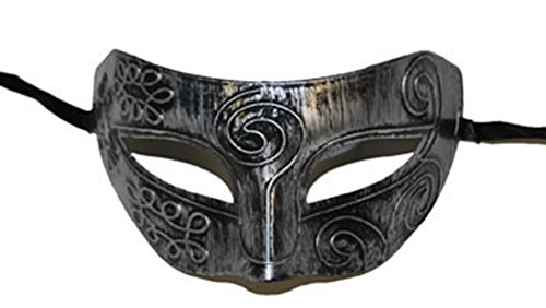 erdbeerclown- Motto-Party Choker Steampunk Maske, Silber