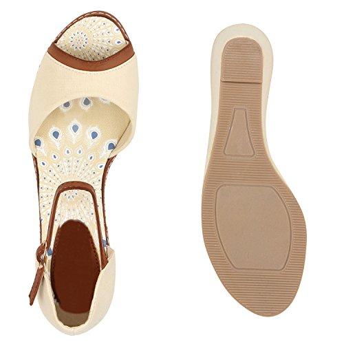 Damen Sandaletten Glitzer | Keilsandaletten Schnallen | Bast Wedges Muster | Plateauschuhe Keilabsatz | Party Abiball Schuhe |Zierperlen Metallic Strass Nude Muster