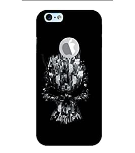 YuBingo Apple iPhone 6S (Logo View Window Case) Designer Phone Back Case Cover ( Buildings in Skull Shape )
