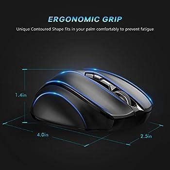 Victsing Mini Schnurlos Maus Wireless Mouse 2.4g 2400 Dpi 6 Tasten Optische Mäuse Mit Usb Nano Empfänger Für Pc Laptop Imac Macbook Microsoft Pro, Office Home 11