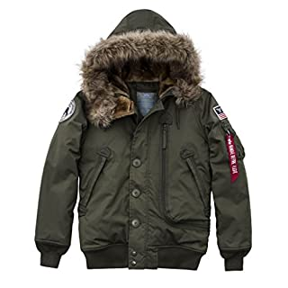 Alpha Industries Women's Jacket Polar SVL, Size:S, Color dark green