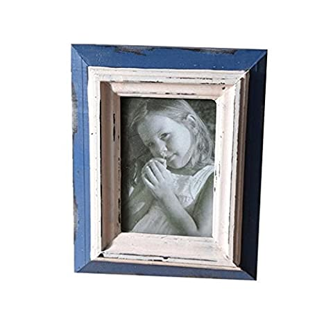 Photo Frame Retro Old Wooden Cadre Artisanat Décoration de table Décoration Joker , 3