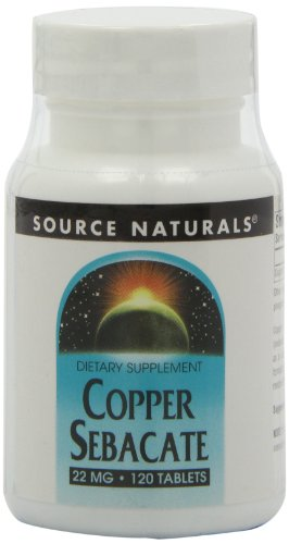 Source Naturals, Kupfer sebacat, 22 mg, 120 Tabletten