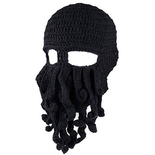 Dpolrs Winter Unisex Tentakel Octopus Strickmütze Hut Mütze Wind Ski Mask