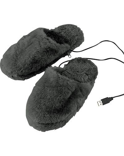 infactory-deluxe-plush-slippers-with-usb-warmesohle-40-46-size
