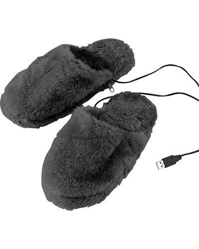 Pantoffeln mit USB-Wärmesohle Gr. 40-46