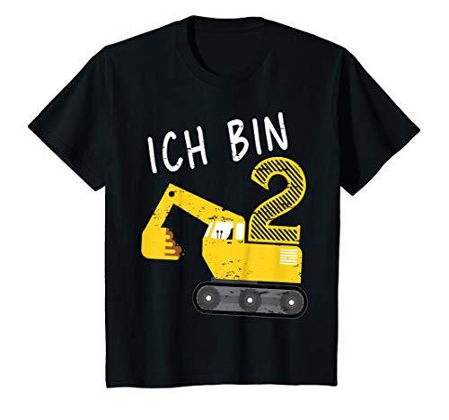 Kinder Bagger Junge 2. Geburtstag T-Shirt 2 Jahre Baustelle -