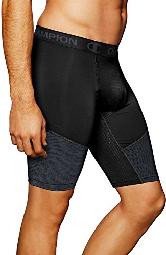Champion Powerflex 9 Mens Solid Compression Shorts Black