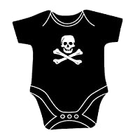CG Skull & Crossbones Jolly Roger Pirate Flag Babygrow Bodysuit Unisex for Baby