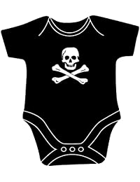 CG Skull & Crossbones Jolly Roger Pirate Flag Babygrow Bodysuit Unisex for Baby