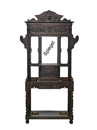 Garderobe Wandgarderobe Flurgarderobe Dielenmöbel Antik um 1880 Eiche (6325)