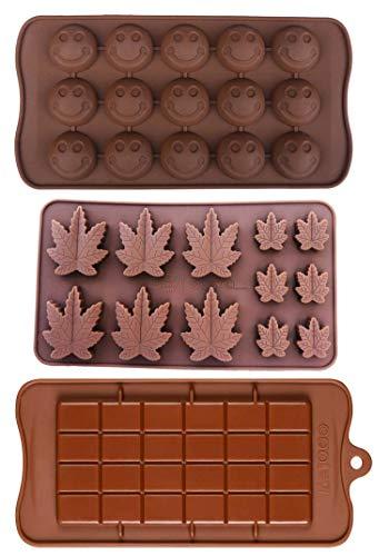 Silikon Lollipop Gummibaumige Brownies Had Candy Cannabis Weed Essbare Blätter Form Eiswürfel Marihuana Schokolade Seife Kerze Tablett Party Maker Brown (Marijuana_Smiley_Bar)
