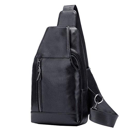 Yy.f Junge Brieftasche Einfarbige Schultern Retro Diagonal Sport Im Freien Rucksack Shopping Boy Jugend Brown