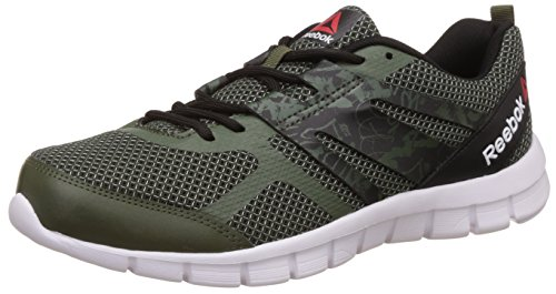 7. Reebok Men's Speed Xt Primal Green, Skull Grey and Black Running Shoes