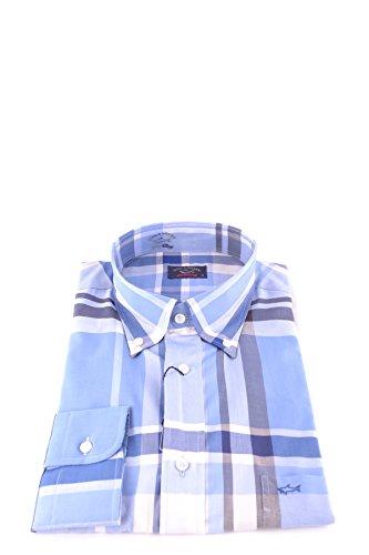 Paul & shark camicia uomo mcbi234124o cotone blu