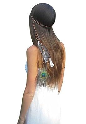 Blank K-Hochzeits-Party Girls Feder-Haar-Band, Kleid-Gurt, oder Halskette, L?nge verstellbar