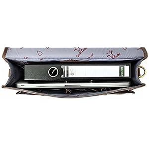 41SAXJqW4oL. SS300  - Gusti Cuero Studio Greg Maletín Ejecutivo Portátil 17'' Portafolios Impermeable Business A4 Vintage Retro Unisex 2H5-20…