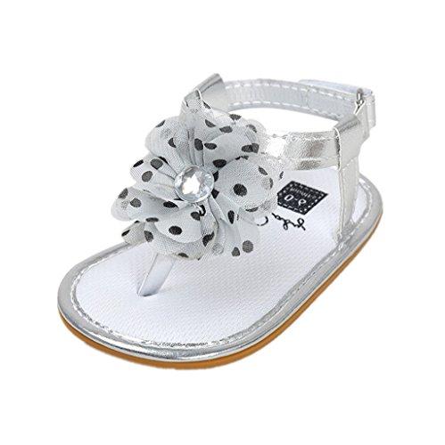 Baby Schuhe Auxma Baby Mädchen Blumen Sommer Sandalen Anti-Rutsch-Krippe Schuhe Für 3-18 Monate (13-18 M, Rosa) C