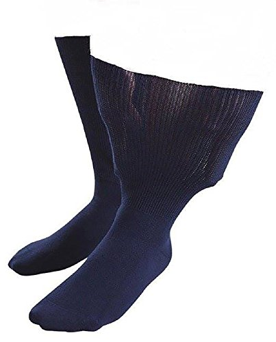 Fuß-behandlungs-system (Sock Shop Iomi Footnurse - Herren & Damen socken extra weit bund ödeme beine behandlung gesundheitssocken in 4 Größen & 5 Farbig (39-43 eur, Marine))