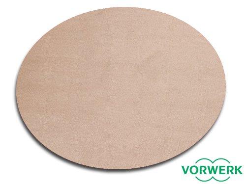 Runder Sand (Vorwerk Bijou sand der HEVO® Spielteppich nicht nur für Kinder 200 cm Ø Rund)