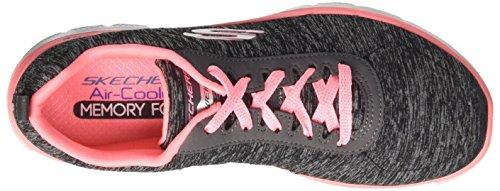 Skechers Flex Appeal 2.0, Scarpe Sportive Extérieure Donna Nero (bkcl)