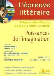 Puissances de l'imagination, L'épreuve Littéraire 2007/2008