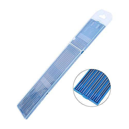 Electrodos de soldadura, 10pcs Electrodos de soldadura de tungsteno Electrodo de Lanthanated Punta azul 1.0/1.6/2.4mm(1.0 x 150mm)