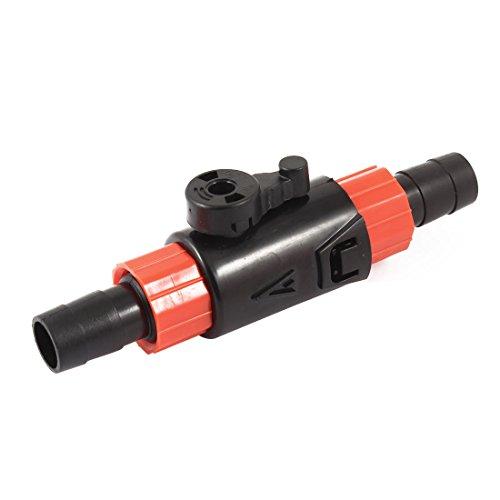 sourcingmap Aquarium Drosselklappe Wasser Flow Control Schalter 12/16mm schwarz rot