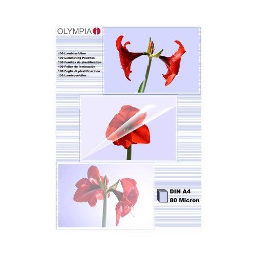olympia-9166-fundas-para-plastificar-80-mic-din-a4-100-unidades