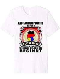 T-Shirt Nur wo Pegnitz drauf steht ist auch Pegnitz drin schwarz Damen Gr S bis