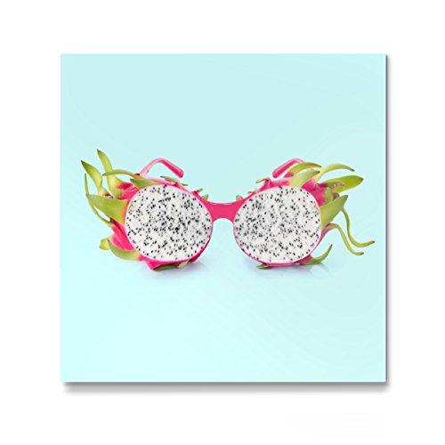 artboxONE Galerie-Print 60x60 cm Dragon Sunglasses hochwertiges Acrylglas auf Alu-Dibond von Paul Fuentes Design