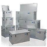 Coffre de chantier aluminium haute résistance-Volume: 70 litres