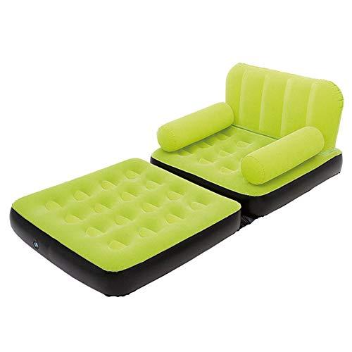 Sask ROM Aufblasbares Bett Grün, Luftmatratze Mit King-Size-Bett, Strukturierte I-Beam-Technologie   191 * 97 * 64 cm   220V,Green