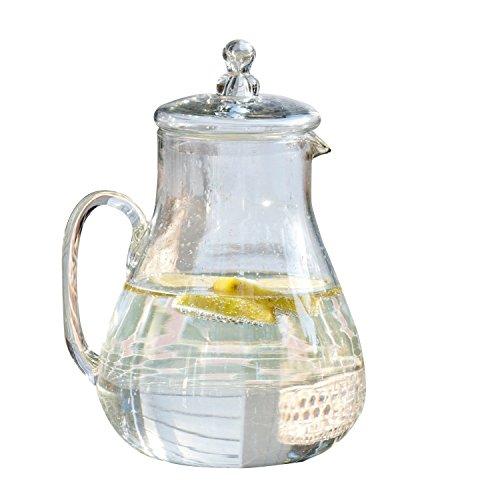 LOBERON Krug Caithness, Glas, H/B/T ca. 27/20/17 cm, Küchen-Accessoires, klar (2 Limonade Liter)