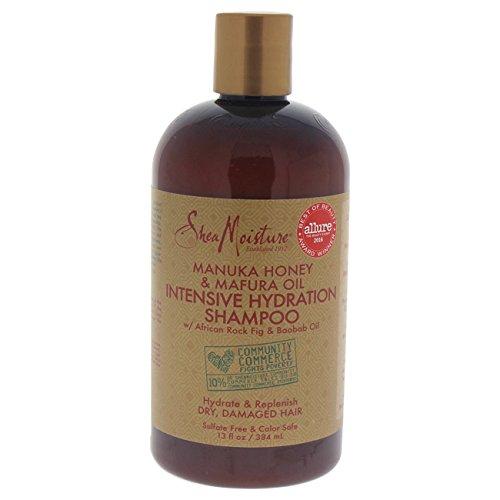 Shea Moisture Manuka Honey & Mafura Oil Intensive Hydration Shampoo with African Rock Fig & Baobab Oil 13oz