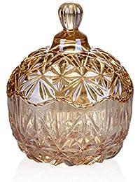 ZHML-yhg Cenicero-Cristal De Cristal con Tapa Efectivo para Fumar Olor Cenicero Cilindro