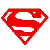 Superman logo-red-vinyl Coupe Externe fenêtre ou pare-chocs sticker-decal, DC Comics, voiture, camion, Notebook, ordinateur portable, porte