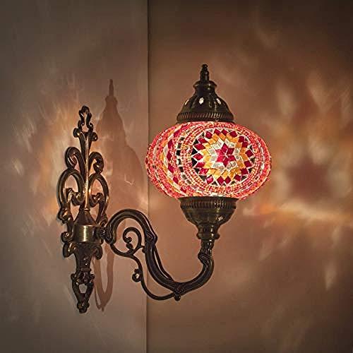 Lámpara pared, linterna turca nórdica iluminación