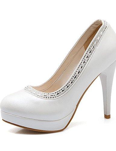 WSS 2016 Chaussures Femme-Bureau & Travail / Décontracté-Bleu / Rose / Blanc-Talon Aiguille-Talons / Bout Arrondi-Talons-Polyuréthane pink-us7.5 / eu38 / uk5.5 / cn38